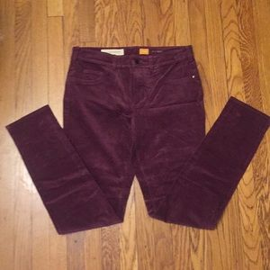 NWT Anthropologie maroon corduroy pants size 30